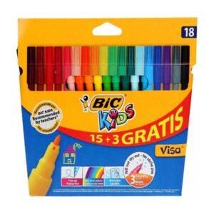 BIC tusser 15+3 farver