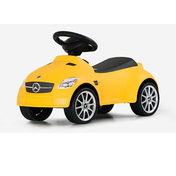 Gul gåvogn/mini bil Mercedes Benz SLK 55