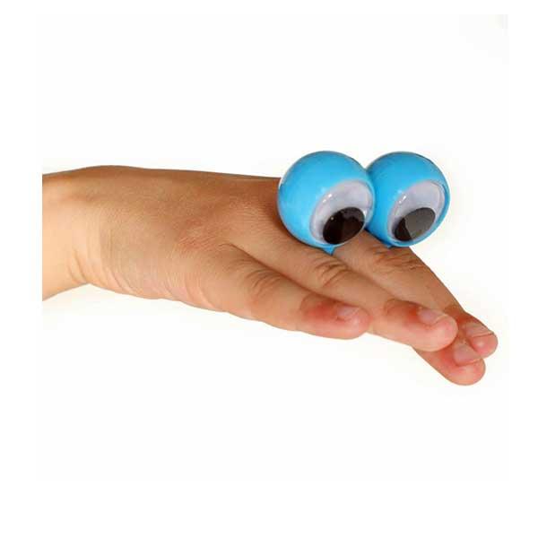 Stor fingerring med sjove øjne