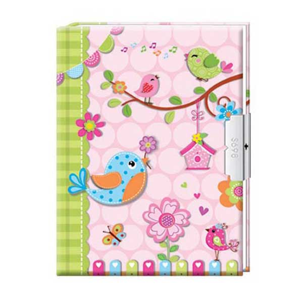 Sød lyserød dagbog