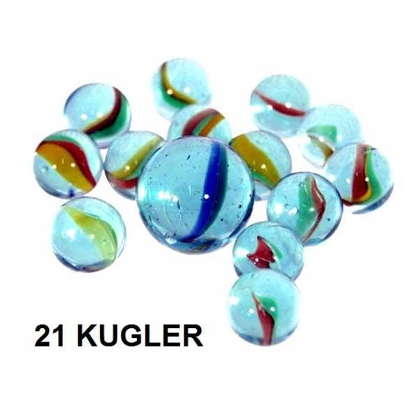 Marmorkugler 21 glaskugler