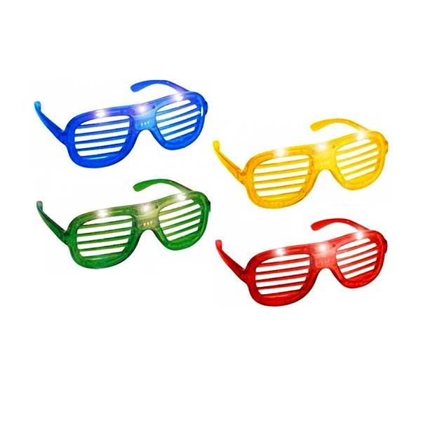 Fest briller med skygge og LED lys