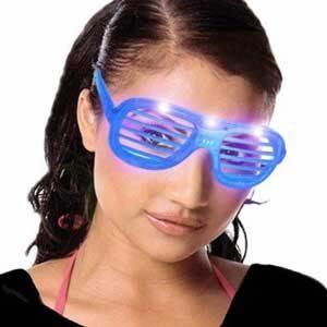 Event briller med skygge og LED lys