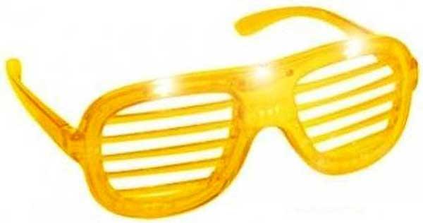 Briller med skygge og LED lys