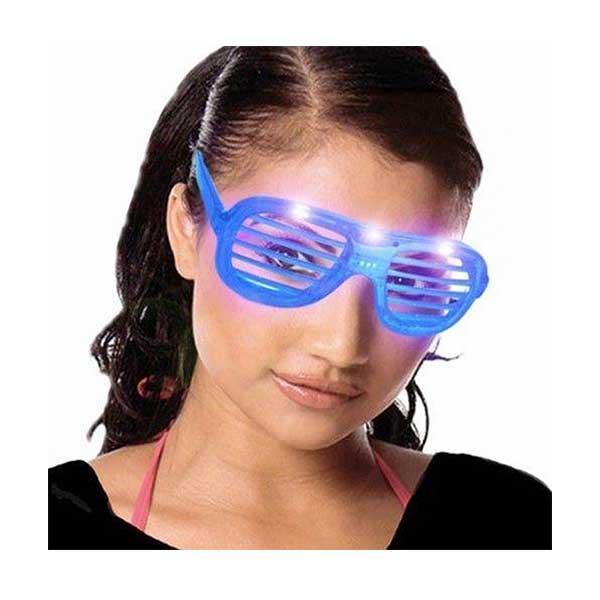 Briller med LED lys og skygge paneler