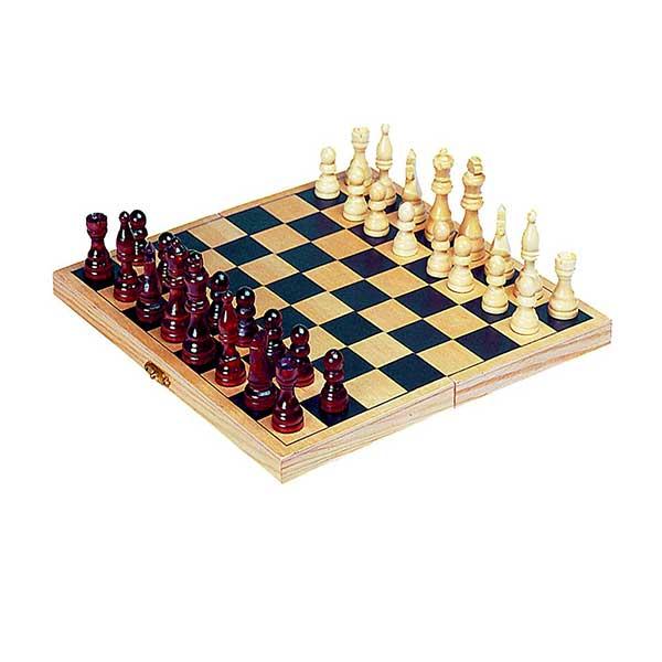 Goki foldbart skakspil i træ