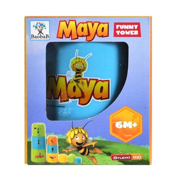 Byggetårn i plast med den sjove bi maya