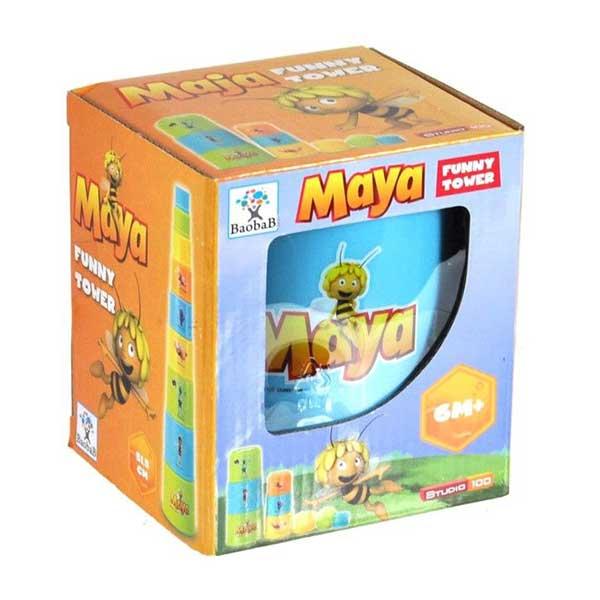 Stabeltårn i plast med den sjove bi maya