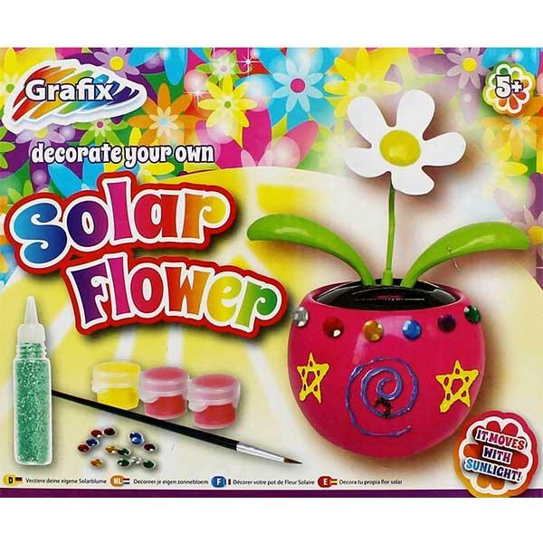 Solcelle blomst til dekoration