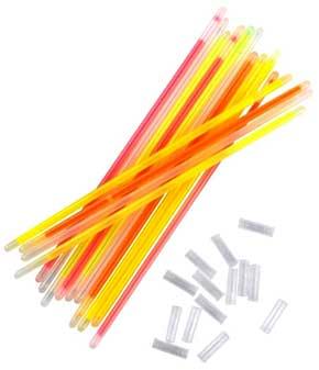 Knæklys armbånd i neon-farver