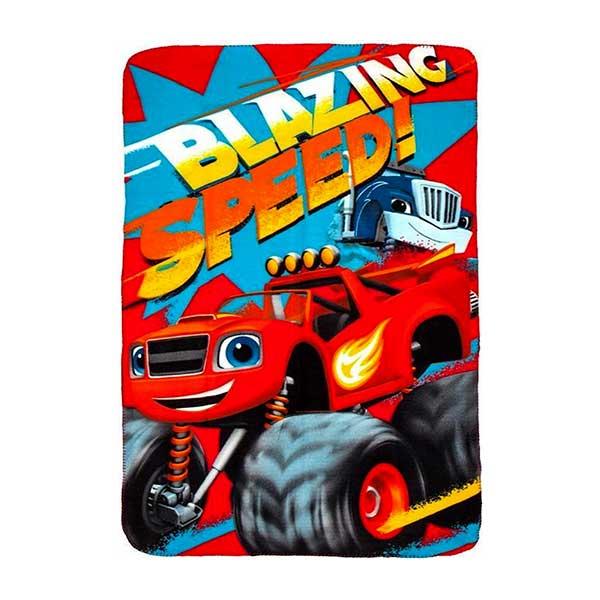 Cars Blaze speed fleece tæppe