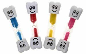 Timeglas til tænder og leg