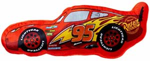Figurformet pude med lynet mcqueen fra Cars 3