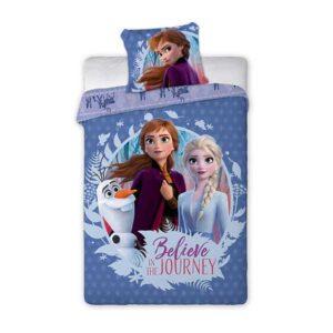 Frozen sengetøj med Anna, Elsa og Oluf