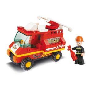 Brandbil byggesæt kompatibel med LEGO