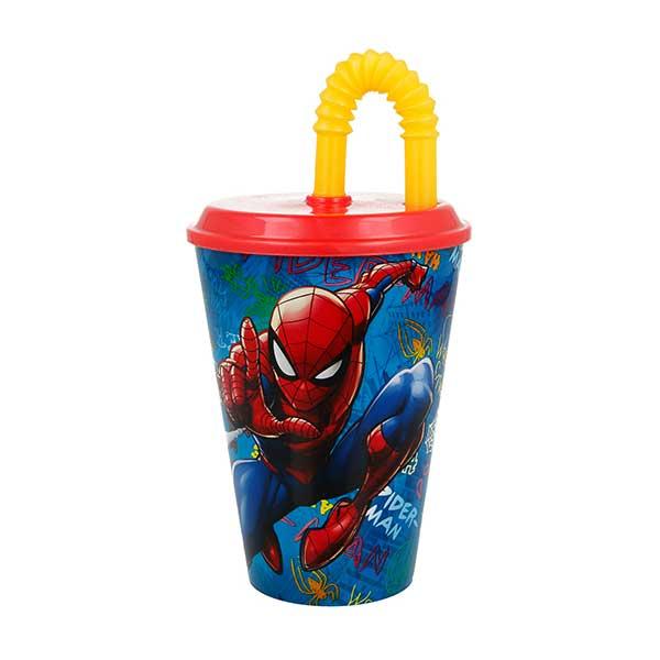 Spiderman drikkekrus med låg