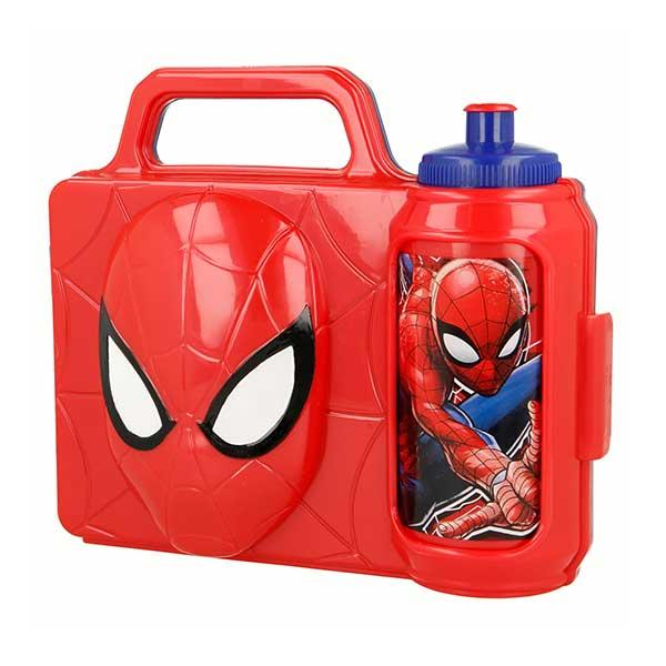 Spiderman 3D madkasse og drikkedunk