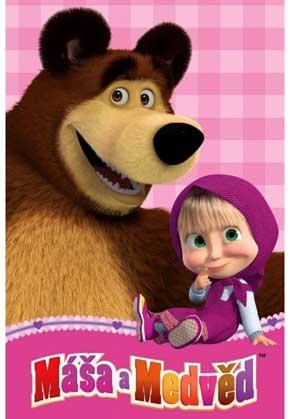 Masha og Bjørnen fleece tæppe