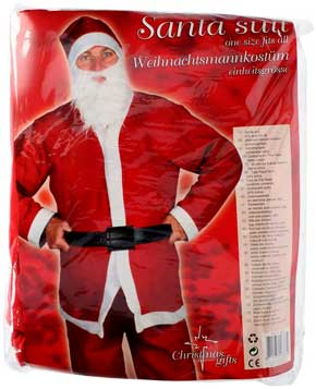 5 delt Julekostume med julemandsdragt