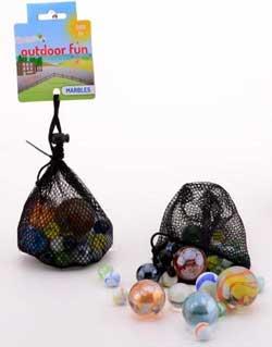 Marmorkugler i net