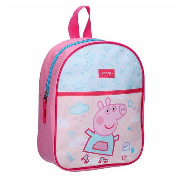 Gurli gris lyserød skoletaske