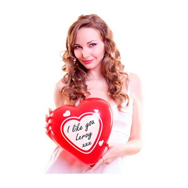 Hjerteballoner med skrivefelt