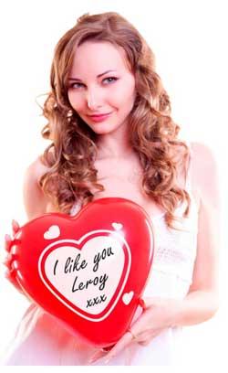 Røde hjerteballoner med skrivefelt
