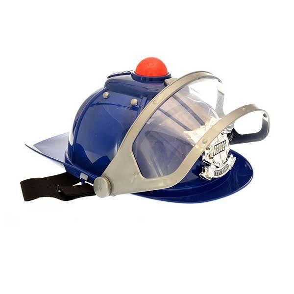 Blå Politi hjelm med sirene og lys