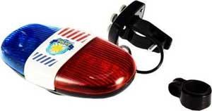 Politi sirene til cyklen med lys