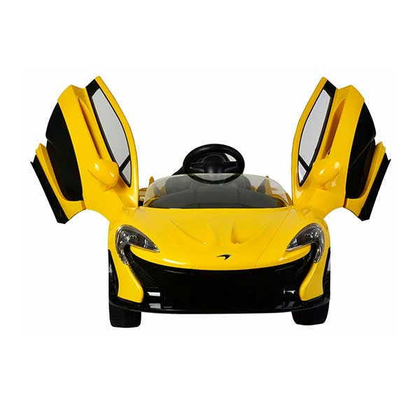 Gul Elbil McLaren P1 med mågevinger