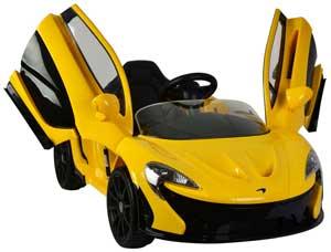 Gul McLaren P1 Elbil med mågevinger