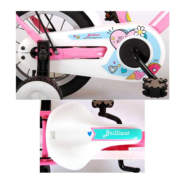 """Pigecykel 12"""" lyserød Volare"""