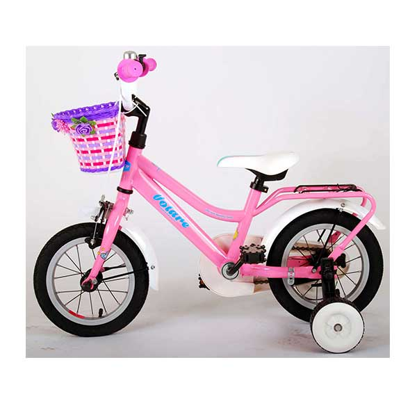 "12"" lyserød pigecykel"