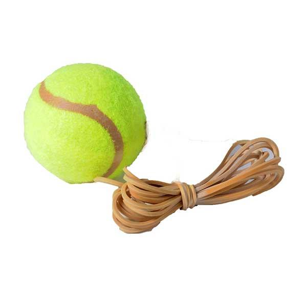 Tennistræner med bold og elastik