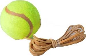Tennisbold med elastik
