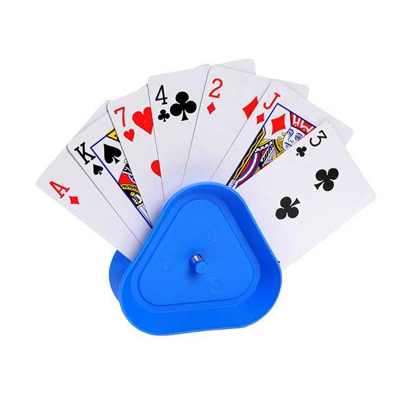 Blå kortholder til spillekort