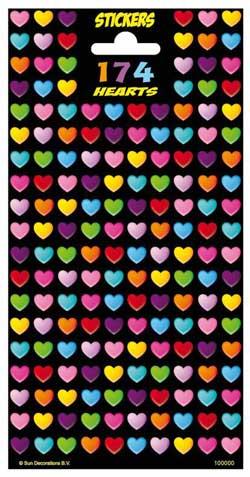 Hjerte stickers med glitter