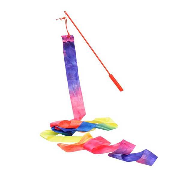 Gymnastik vimpel i regnbue farver