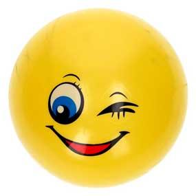 Smiley gul plastbold