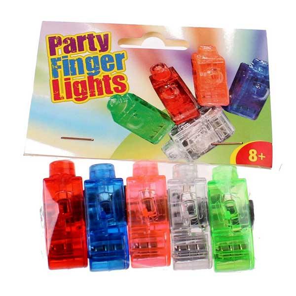 Fingerlys, party ringe med LED lys