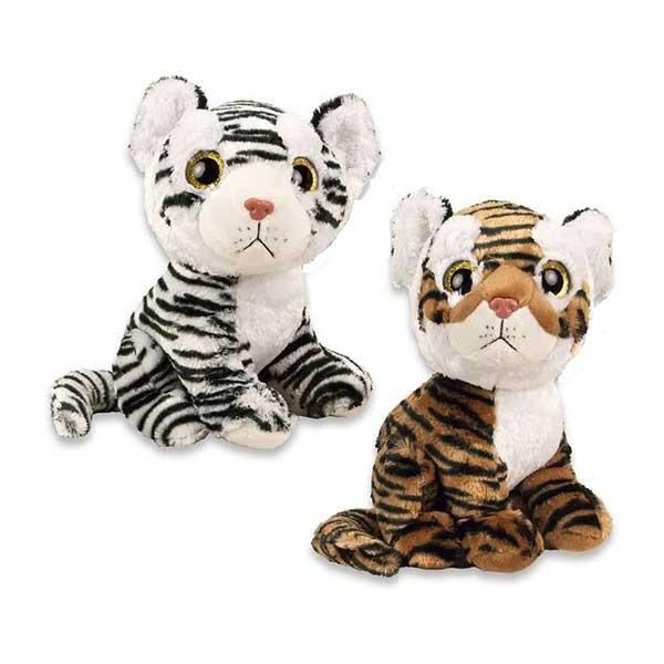 Tiger bamser med glimmer øjne