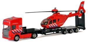 Brandvæsen lastbil med helikopter