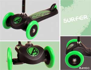 Amigo 3 hjulet løbehjul til børn