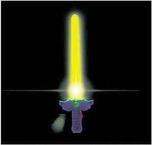 Sværd med LED lys