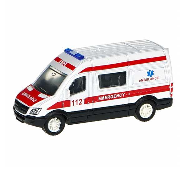 Ambulance metal legetøjsbil