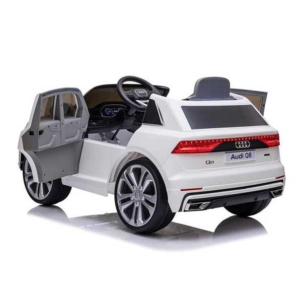 Audi Q8 hvid elbil til børn