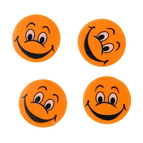 Emoji viskelæder orange
