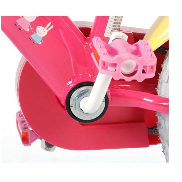 """Gurli gris cykel 12"""" med støttehjul"""
