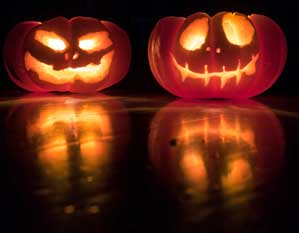 Halloween udsmykning og kostumer