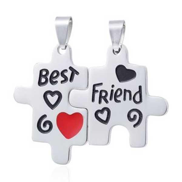 Best Friend halskæde vedhæng - puslespil brikker